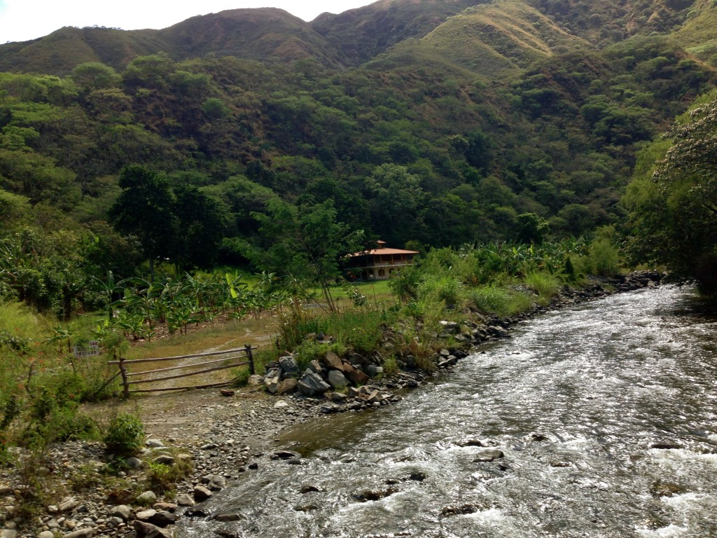 The Vilcabamba River flows by the farm of Norie Huddle and Richard Wheeler. Photo credit: Chris Hebdon