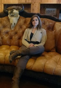 Sharlene Leurig relaxes at the RecordBuck Ranch, a 20,000 acre exotic animal hunting ground where the Seco Sinkhole is located. Photo credit: Ari Phillips.