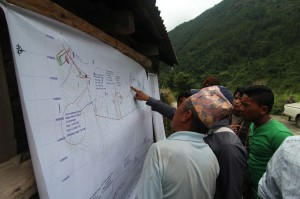 A public hearing for a hydropower project in Pahirebesi, Nuwakot District.