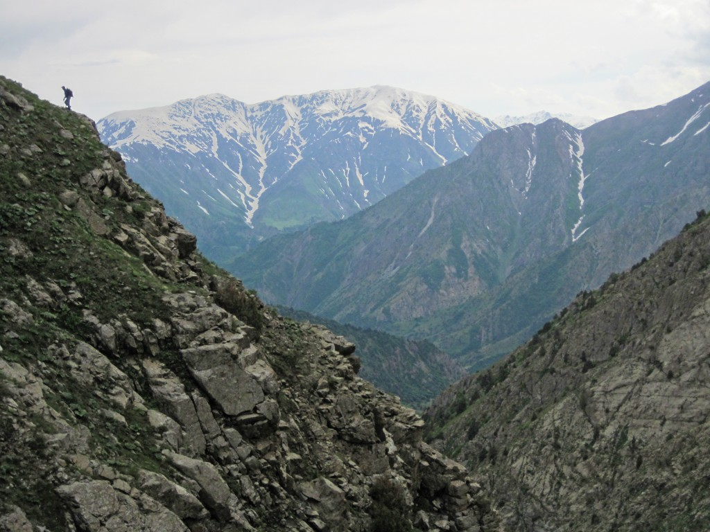 Tajikistan's Hissar Mountains are rugged and remote, ideal habitat for the snow leopard. Photo credit: Tara Meyer.