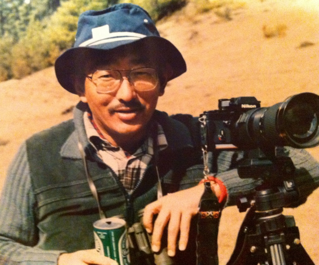 The Divine Madman photographing Black-necked Cranes. Photo courtesy of Dasho Benji.