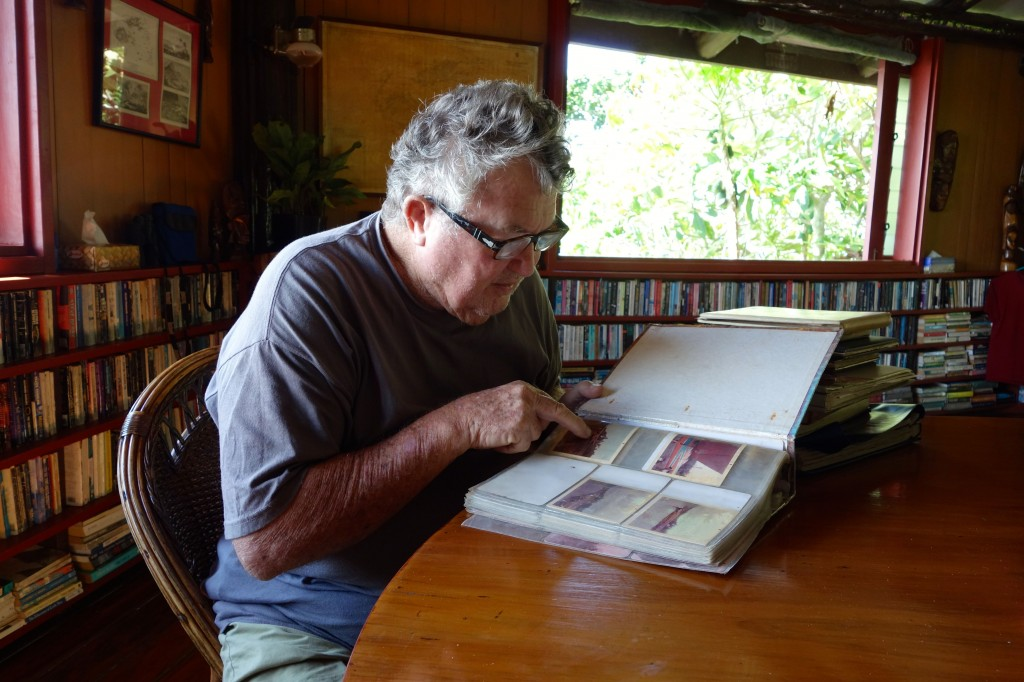 Tom Moody reminisces about his early days on Namenalala. Photo by the author.