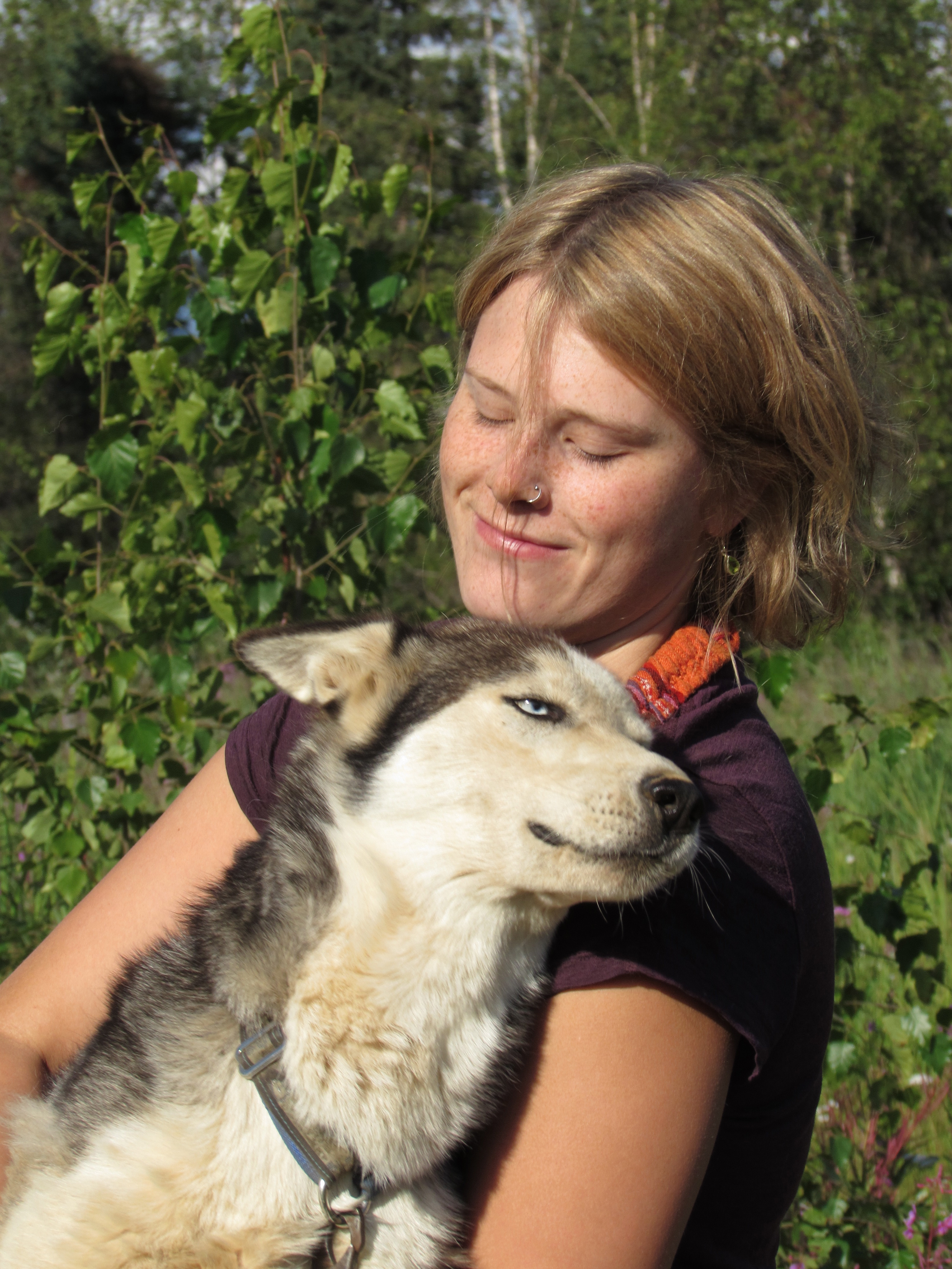 Lisbet Norris and her lead dog, Ruby.