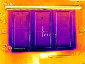 Kroon window's temperature reading without a thermal shade.