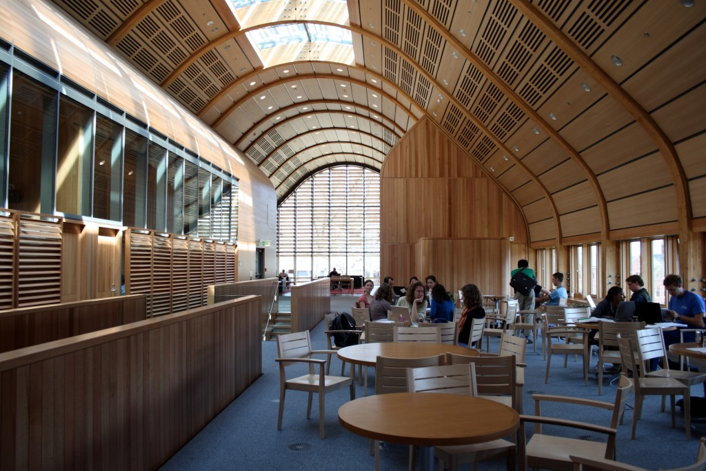 The interior of Kroon Hall.
