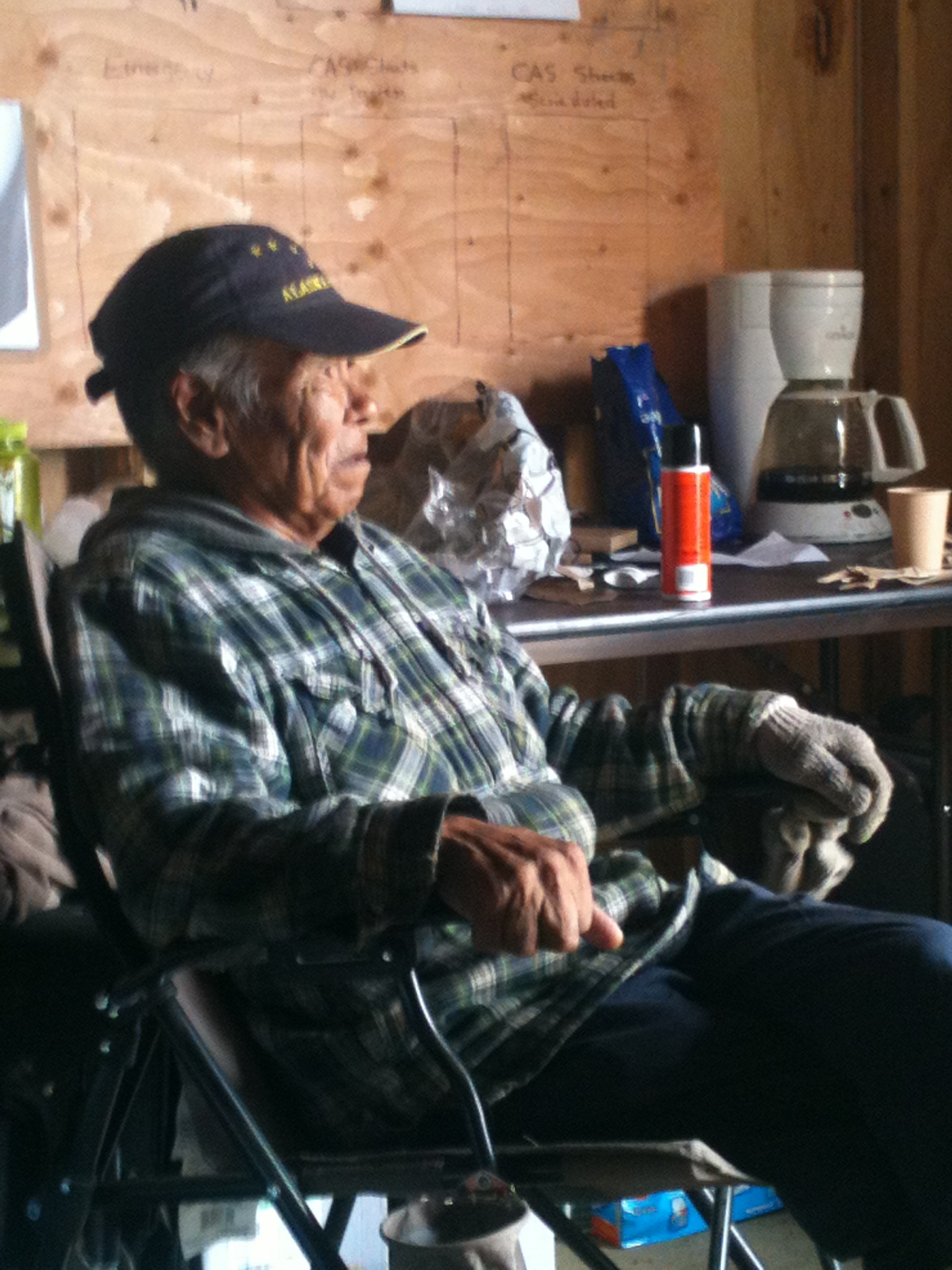 Moses is a Newtok village elder and the first to relocate to Mertarvik. Photo by Will Murtha