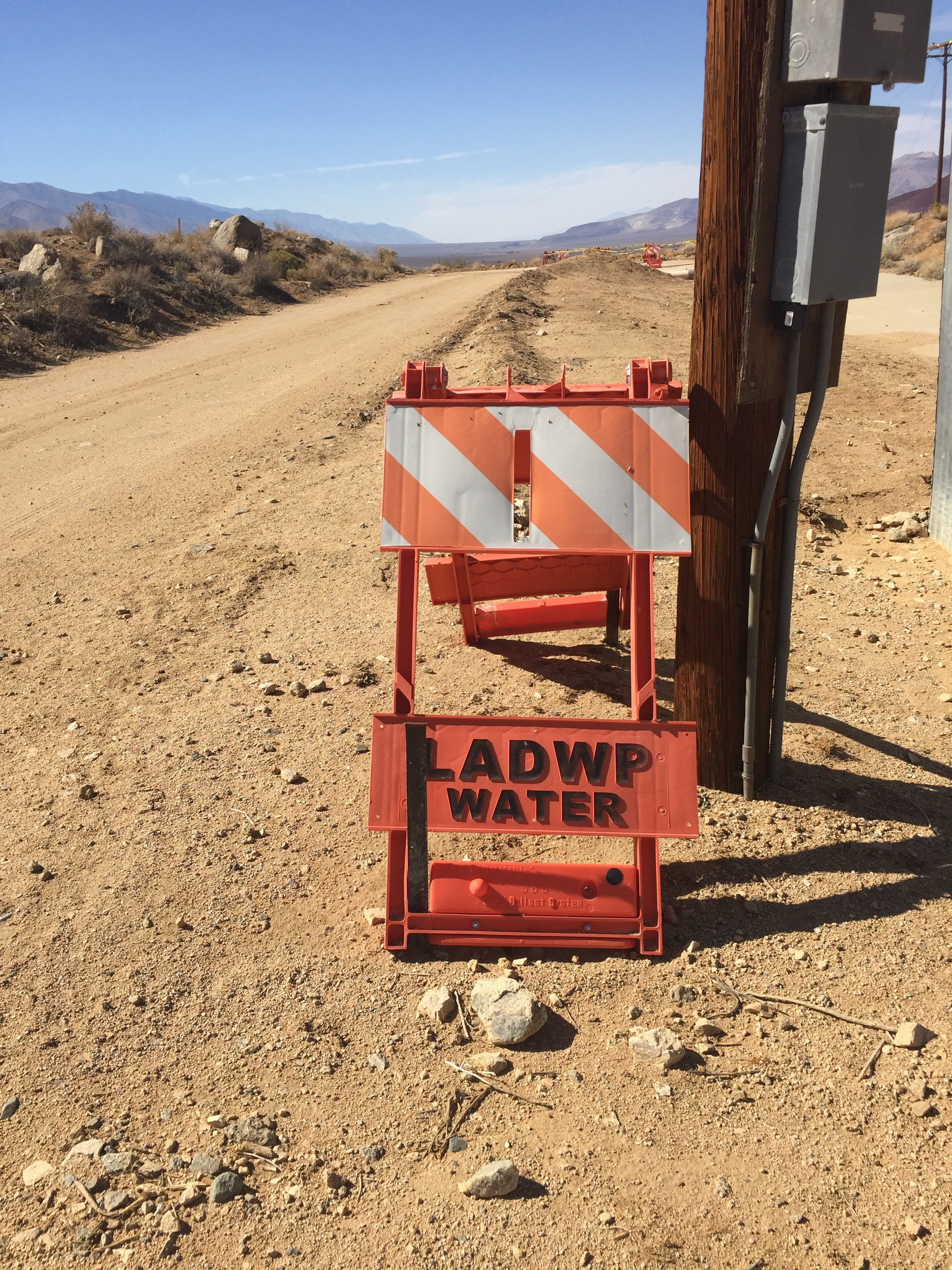 LADWP detritus in the Mojave.